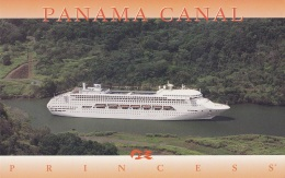"""Crown Princess"",Panama Canal,Jumbo 21x13,5 Cm,ungelaufen - Dampfer"