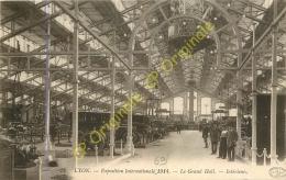 69.  LYON . Exposition Internationale 1914 . Le Grand Hall . Intérieur . - Lyon