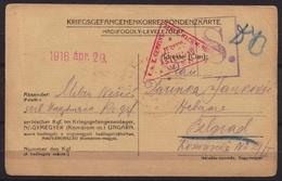 1916 Serbia KuK K.u.K Hungary Nagymegyer War Prisoner Camp Postcard Stationery Feldpost Military Post Censorship WW1 WWI - Serbia
