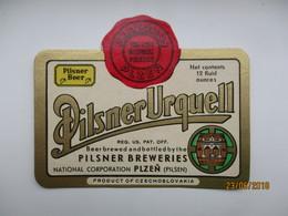 PILSNER URQUELL 1 , BEER LABEL   , 0 - Bière