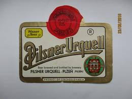 PILSNER URQUELL 2 , BEER LABEL   , 0 - Bière