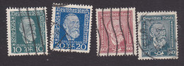 Germany, Scott #340-343, Used, Von Stephan, Issued 1924 - Germany