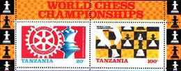 79197)  Tanzania 1986 Chess Championships MS SG 463 Gomma Integra, Non Linguellato.. -   MNH**- FOGLIETTO - Tanzania (1964-...)