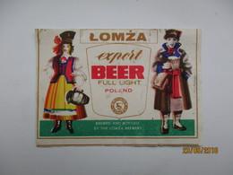 POLAND  LOMZA     , BEER LABEL   , 0 - Bière