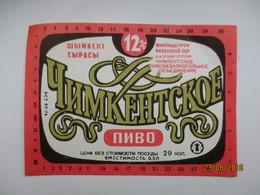 KAZAKHSTAN TCHIMKENT   , BEER LABEL   , 0 - Beer