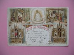 """Carte Allemagne  """" Grus Aus Marienthal !   5  Scènes Religieuses - Glaube, Religion, Kirche"""
