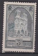 N° 259 Neuf ** 3 Francs Ardoise Type I - Nuevos