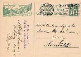 Bild-Postkarte Arosa,  Gelaufen Von Luzern Nach Neuchatel Am 24.IX.1926. Skretariat Renn-Club Luzern - Entiers Postaux