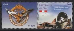 Peru (2006) Yv. 1580/81  /  Airplane - Avion - Aircraft - Military - Aviones