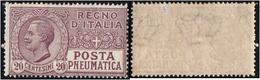 Italy.   1926 POSTA PNEUMATICA. 20c. MH - 1900-44 Victor Emmanuel III.