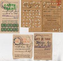 VP12.470 - TABAC - Carte De Tabac X 4 - Mr DERINGER à CHALONS SUR MARNE - Documents