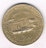 200 LIRE 1989 R ITALIE /3599G/ - 1946-… : Republic