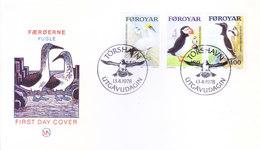 FAROE ISLANDS : FIRST DAY COVER : 13-04-1978 : BIRDS : VERY RARE ERROR - NARROW PERFORATION AT TOP OF 140 & 400 DENOMINA - Faroe Islands