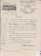 8/125 Lettre Facture TEINTURERIE MODERNE TROYES USINE SAINT PARRES / 19?? - France