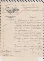8/31 Lettre Facture Ameublement EBENISTERIE TAPISSERI SCHMIT PIOLLET PARIS /1890 - France