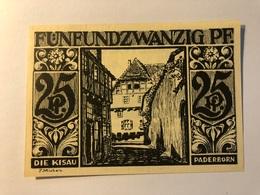 Allemagne Notgeld Paderborn 25 Pfennig - [ 3] 1918-1933 : Weimar Republic