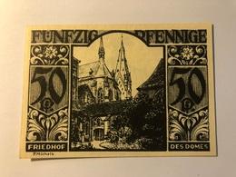 Allemagne Notgeld Paderborn 50 Pfennig - [ 3] 1918-1933 : Weimar Republic