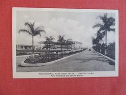 Auto Entrance & Grand Strand     Oriental Park Race Track  Havana   Cuba   Ref 3001 - Cuba