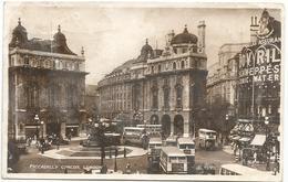 X2963 London - Piccadilly Circus - Bus Autobus / Viaggiata 1953 - Piccadilly Circus