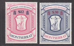1983 Montserrat Coat Of Arms Postage & Revenue Complete Set Of 2 MNH - Montserrat