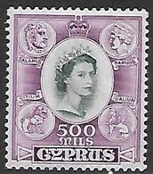 Cyprus   1955    Sc#181   500m  MLH*   2016 Scott Value $32.50 - Cyprus (...-1960)