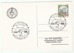 1986 Pozzuoli PERGOLESI  Death 250th Anniv EVENT COVER Card ITALY Stamps Music - Music