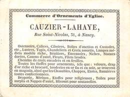 NANCY CAUZIER LAHAYE 51 RUE SAINT NICOLAS COMMERCE D ORNEMENTS D EGLISE - Advertising