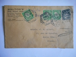 LSC 1935 DUBLIN Pour PARIS Timbre EIRE - 1922-37 Irischer Freistaat