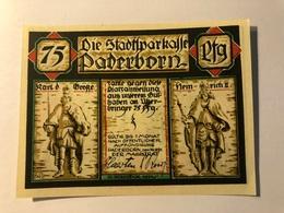 Allemagne Notgeld Paderborn 75 Pfennig - [ 3] 1918-1933 : Weimar Republic