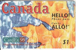 CANADA - CardEx 96, Hello Promotion Prepaid Card, Tirage 3000, 09/94, Mint - Canada