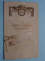 ALBERT Et MARCELLE - 3 Juin 1933 ( Thirion Camiel ) Menu ( Details - Zie Foto ) ! - Menus