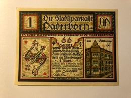 Allemagne Notgeld Paderborn 1 Mark - [ 3] 1918-1933 : Weimar Republic