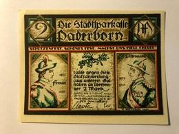 Allemagne Notgeld Paderborn 2 Mark - [ 3] 1918-1933 : Weimar Republic