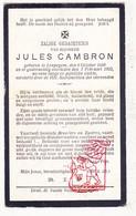 DP Jules Cambron ° Leupegem Oudenaarde 1880 † 1922 - Devotion Images