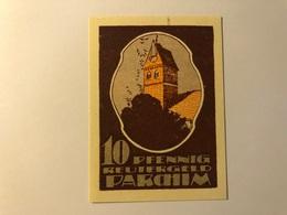 Allemagne Notgeld Parchim 10 Pfennig - [ 3] 1918-1933 : Weimar Republic
