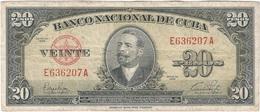 Cuba 20 Pesos 1949 Pick 80a Ref 1731 - Cuba