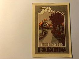 Allemagne Notgeld Parchim 50 Pfennig - [ 3] 1918-1933 : Weimar Republic