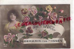 03- UNE PENSEE DE SAINT GERMAIN DES FOSSES - ROSES FEMME - Autres Communes