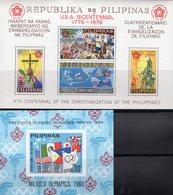 Olympia Tokio 1964 Filipinas Block IV+9b ** 30€ EXPO EFIMEX USA 1976 M/s Philatelic Bloc Olympic Sheet Bf Pilipinas - Philippines