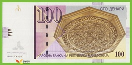 Voyo MACEDONIA 100 Denari 2008 P16h B208g CG(ЦГ) UNC Skopje - Macedonia