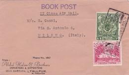 BUSTA VIAGGIATA  - PAKISTAN - ABBUL HALIM E BROTHERS IMPORTERS E EXPORTERS - DESTINAZIONE  - MILANO ( ITALIA ) 1957 - Pakistan