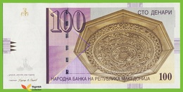 Voyo MACEDONIA 100 Denari 2009 P16i B208j MX(MH) UNC Skopje - Macedonia