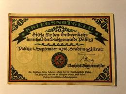 Allemagne Notgeld Pasing 50 Pfennig - [ 3] 1918-1933 : Weimar Republic