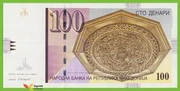 Voyo MACEDONIA 100 Denari 2007 P16g B208g EE UNC Skopje - Macedonia
