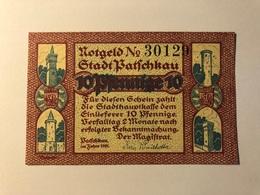 Allemagne Notgeld Patschkau 10 Pfennig - [ 3] 1918-1933 : Weimar Republic