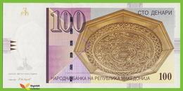 Voyo MACEDONIA 100 Denari 2005 P16f B208f ЦА(CA) UNC Skopje - Macedonia