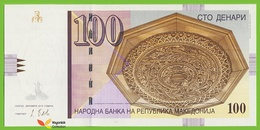 Voyo MACEDONIA 100 Denari 2013 P16j B208k ФJ(FJ) UNC Skopje - Macédoine