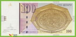 Voyo MACEDONIA 100 Denari 2002 P16c B208d ЧЧ(CzCz) UNC Skopje - Macedonia