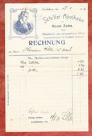 Medikamenten-Rechnung, Schiller-Apotheke, Oscar Zahn, Crailsheim, Nach Urach 1918 (53281) - Deutschland