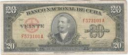 Cuba 20 Pesos 1949 Pk 80 A Ref 607-3 - Cuba